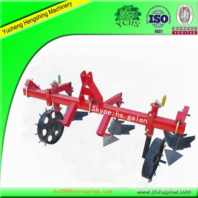 Agricultural land machinery spring cultivator with tractor