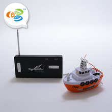Simulation rc ships model children play 4ch plastic floating toy boats for sale