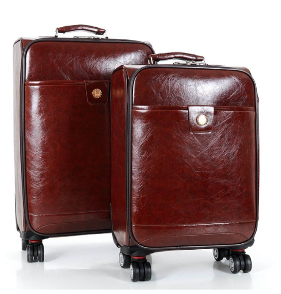 Waterproof PU leather travel bag leather luggage