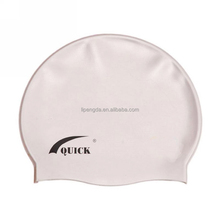Fashionable High Quality Adult / Kid Sizes Customized Logo Silicone Waterproof Swim Cap For Swimming