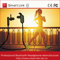 Strong Bass noddle line in ear style cheap bluetooth earpiece for iOS devices