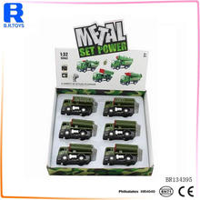 Pull back metal toy kids diecast military vehicles with music