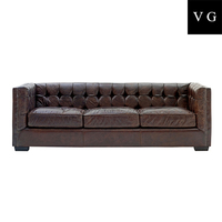 living room furniture low back pu italy leather sofa button tufted back 3 seater wooden sofa
