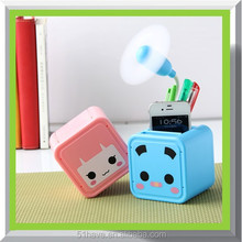 Click me get free sample! cute charging led table fan