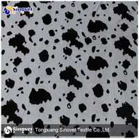 Polyester Cow Print Fleece Fabric for Dog Products