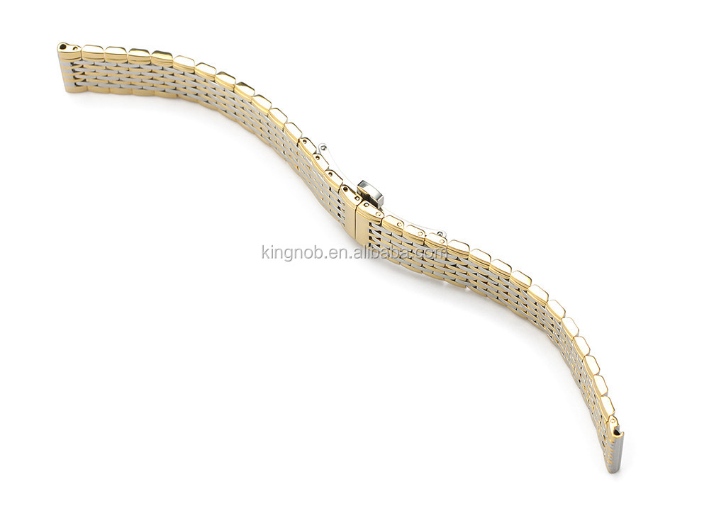13mm 18mm 316L S/S Bracelet Metal Fold Closure Chain Stainless Steel Link