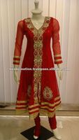 Red Hand Work Salwar Kameez