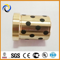 Oilless bronze bushing with graphite insert for wholesale, good quality bushing