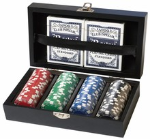 Round Tray Fancy Poker Chip Set With Certificate