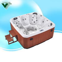 Vigor hot sell indoor freestanding pool,sex massage china spa,mini swimming pool design