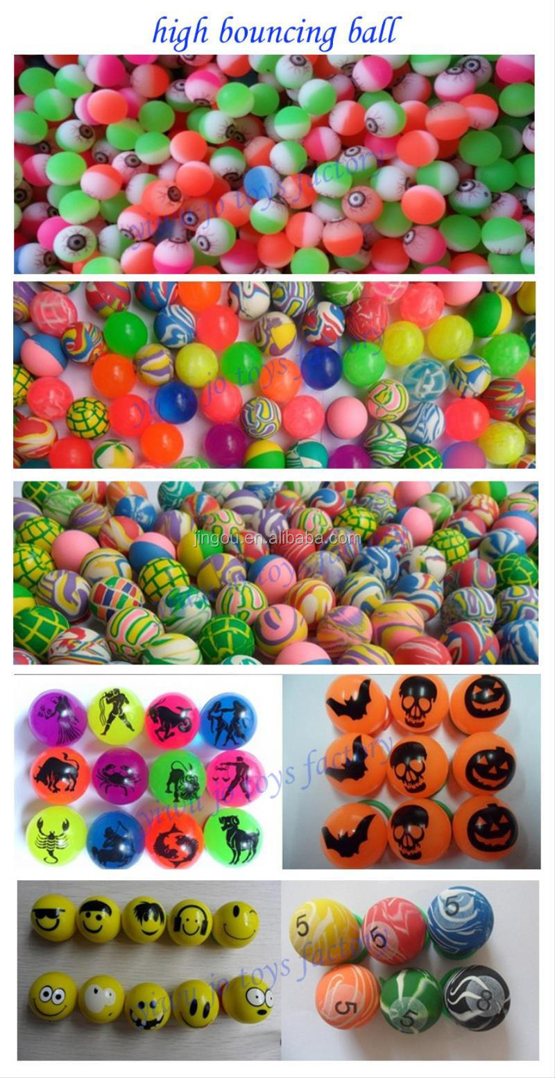 2016 Best Selling Vending Machine 27mm Rubber Bouncy Ball