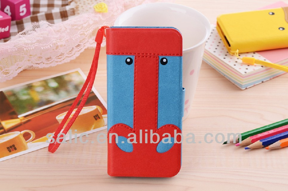 lovely animal leather case for mobile phone
