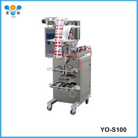 Automatic paste/liquid plastic pouch bag packing machine