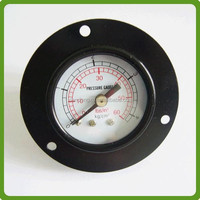 black steel gas pressure gauge manometer bourdon tube type