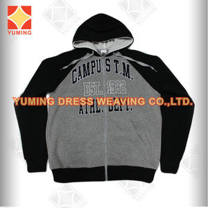 2014 Autumn Wholesale Plain Black Newest Men's Sweater with hoody