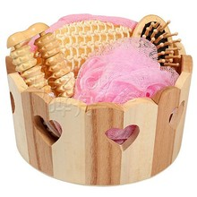 Wholesale Wooden Bath Shower Accessory Gift Set