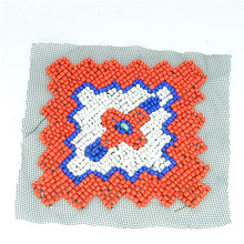 Wholesale stock cheap custom 3d handmade beaded embroidered patch applique