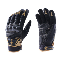Made in China Black/Gold custom motorcycles gloves