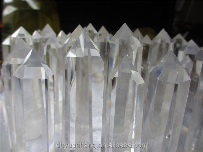 Inspired natural quartz rock crystal single points,6 sides of single crystal points