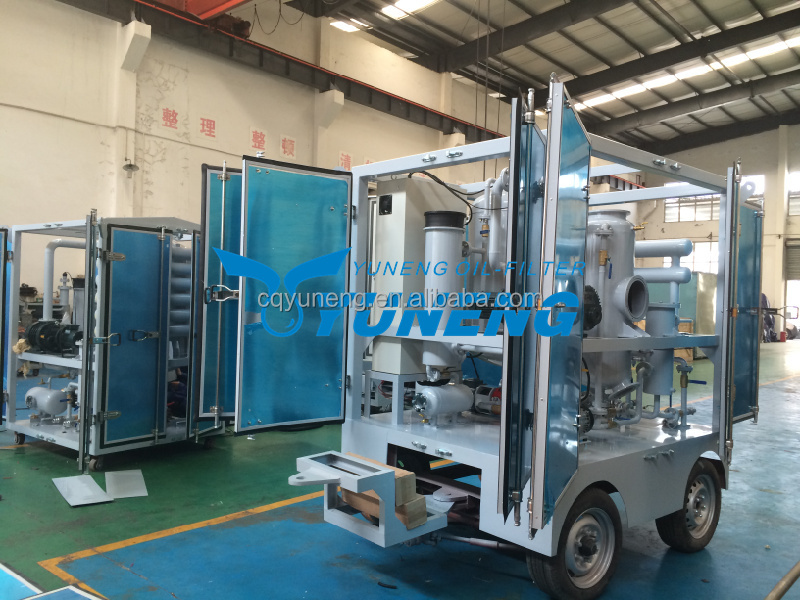 ZJA Series Two Stage Used Transformer Oil Dehydration Plant with Traiiler and Canopy