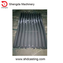 manganese casting wide teeth jaw plate in cheap price for jaw crusher wear parts jaw plate WT, quarry profile