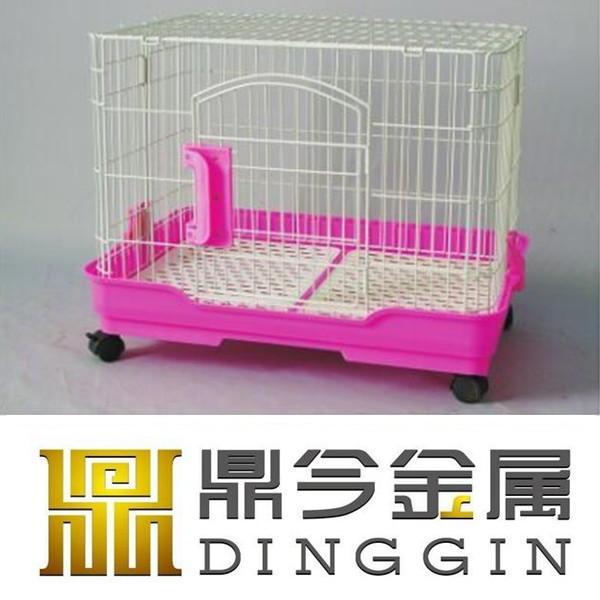 Collaspible pet cages with wheels