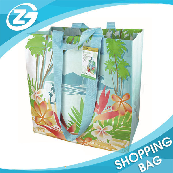 Double Handle Heavy Duty Extra Large Laminated Big Shopper Tote Bag