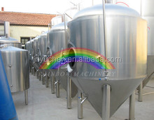 2000L Beer fermentation tank, insulated jacket conical tanks for cerveza fermentation