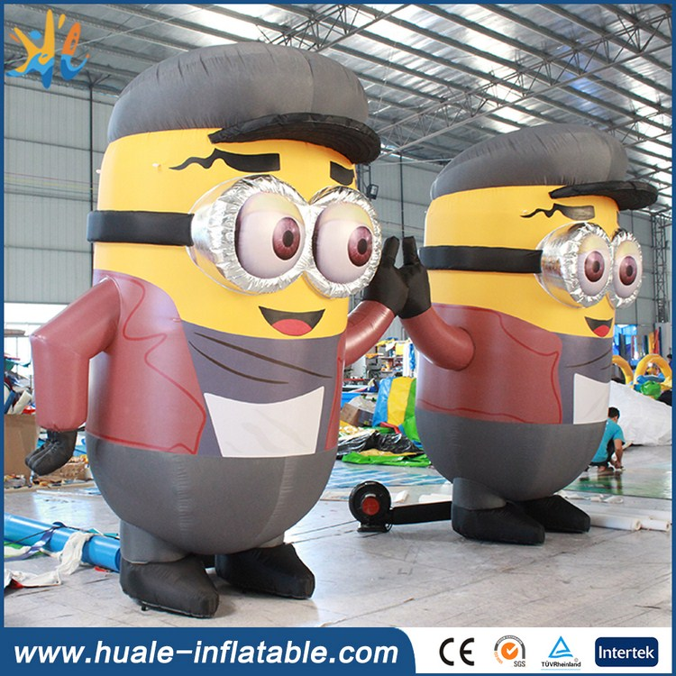 Hot sale lovely display inflatable minion, inflatable minion cartoon character for advertising