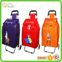 2015 Hot sale new style four wheel shopping trolley bag,wholesale shopping trolley