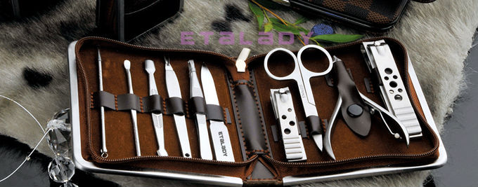 Professional 9 pcs fashion styles girls manicure set