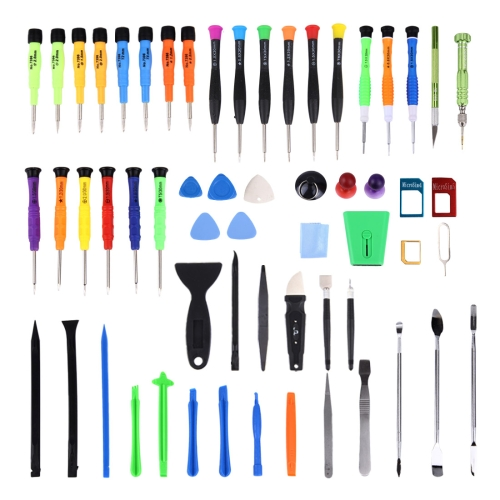 60 in 1 Professional Screwdriver Repair Open Tool <strong>Kit</strong> with SIM Card Adapter Set for Mobile Phones
