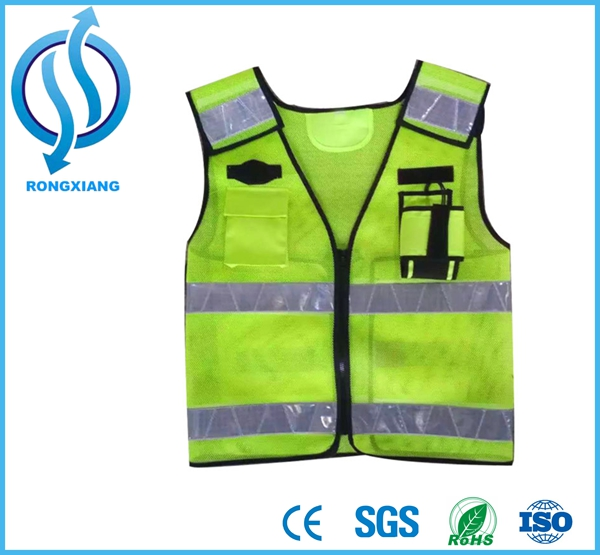 Hi Viz High Visibility Fluorescent Safety Vest Jogging Running Cycling Vest