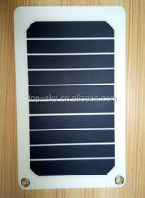 5.5V 5.3W Sunpower portable Solar Panel Solar Power Charging Panel Leaflet A5 Charger USB DIY For Samsung Mobile Phone