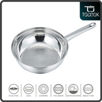 Stainless steel frying pans as seen on tv kitchen induction pans