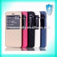 Smart Leather Stand Holder view window case for iphone 6
