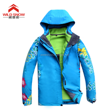 2015 New style fashion waterproof windproof lady snow suit for skiing