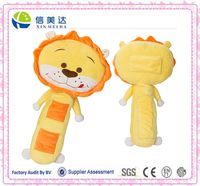 plush lion seat belt pet toy