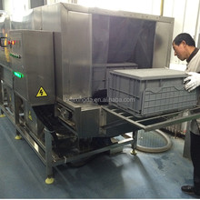 washing machine for plastic boxes/plastic crate washing machine/commercial plastic box washer