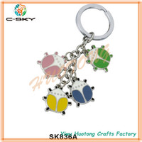 Made in china Customized promotion flash light key chain/laminated key chain