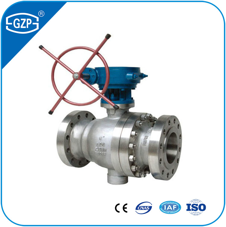 Good Quality Water Wastewater Oil Fuel Gas Acid Steam Marine Irrigation Application Trunnion Ball Valves