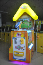 Happy farm shooting playground indoor game machine one player arcade machine with capsule gift for children