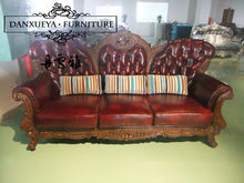 Popular Germany Living Room Leather Sofa