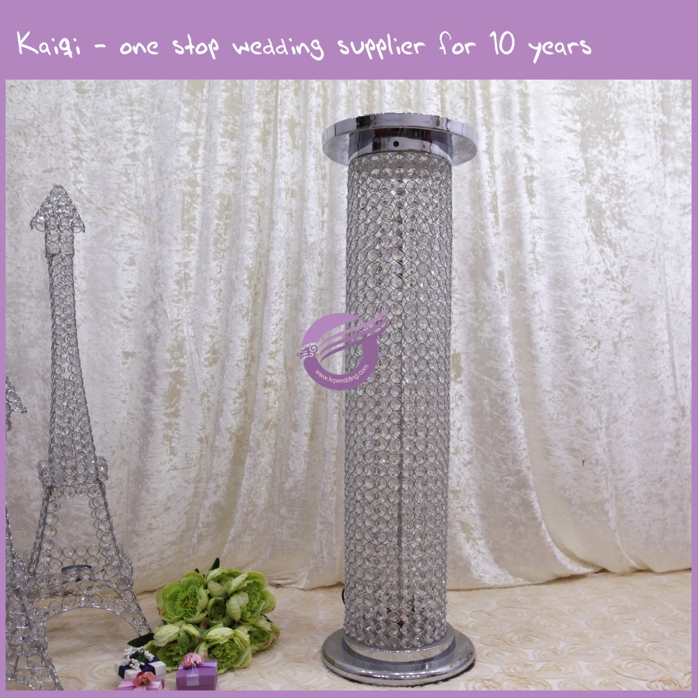 K7426 wedding walkway decorative crystal pillar stand/wedding pillars crystal/wedding pillars with led light