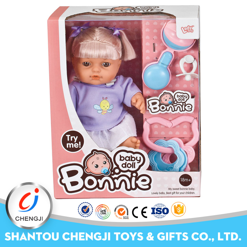 New arrival educational 10 inch lovely silicone child doll