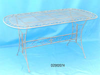 white color antique wrought iron dining tables