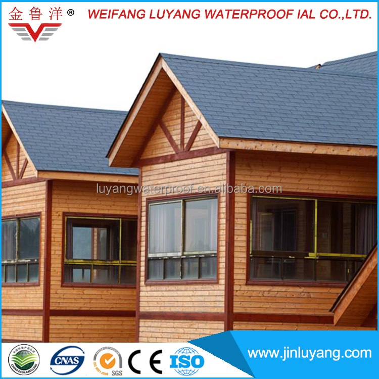 single layer colorful chinese asphalt roof tiles