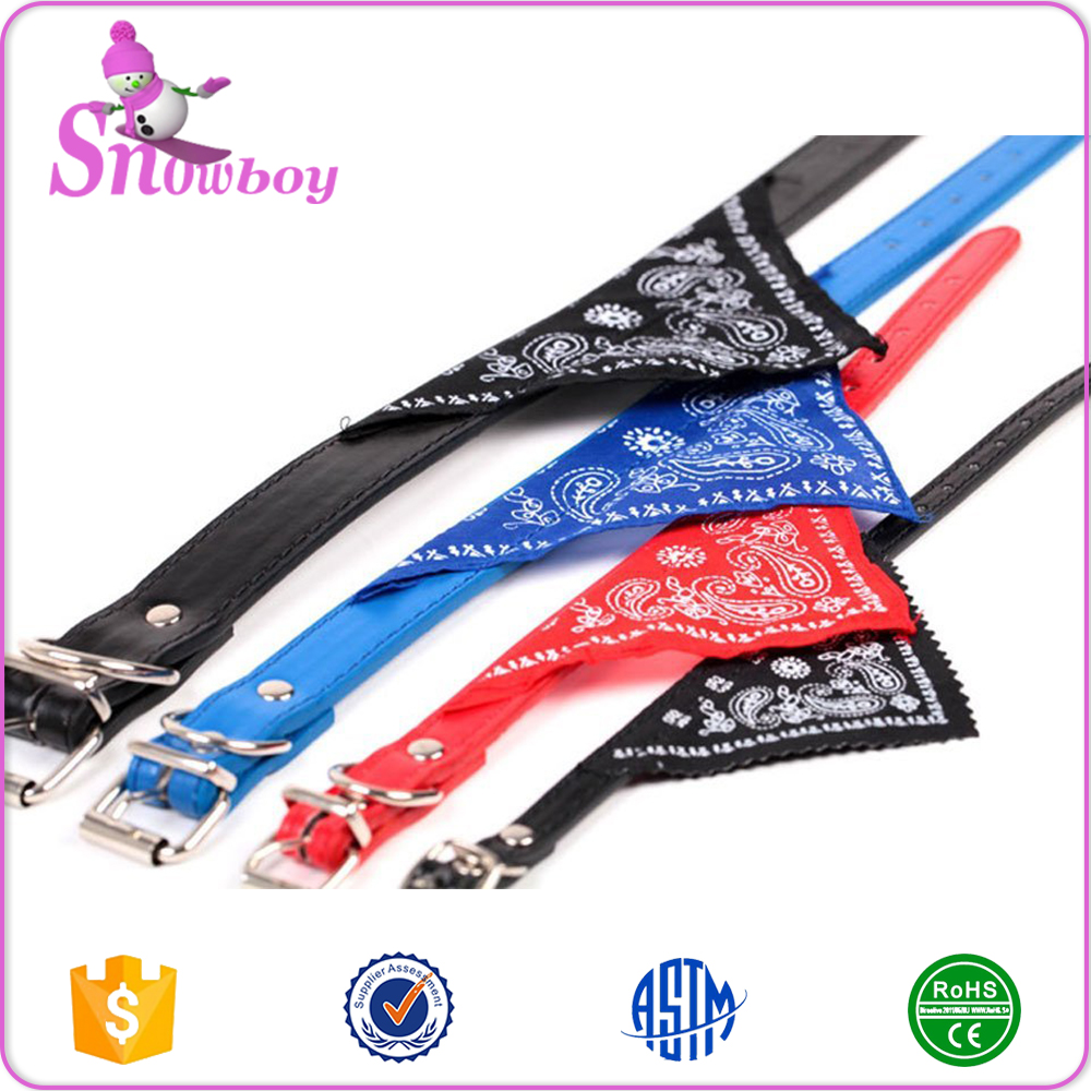 Adjustable Small Puppy Dogs Collars With Neckerchief Scarf