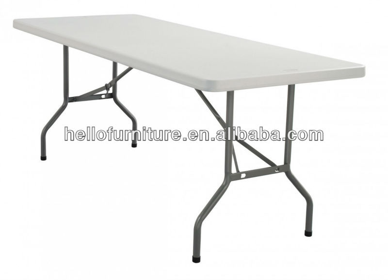 "30"" x 96"" Heavy Duty Ultra Blow Molded Commercial Plastic Folding Table"