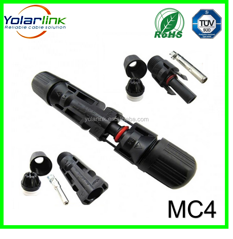 high quality cheap price tuv approved Ip67 Dc Solar Connector Mc4 Waterproof for photovoltaic power system